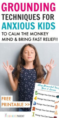Help an anxious child with magic grounding techniques to calm the monkey mind and get instant relief from anxiety Gentle Parenting, Parenting Quotes, Parenting Advice, Kids And Parenting, Grounding Exercises, Monkey Mind, Cute Baby Names, Anxiety In Children, Kids Behavior