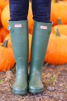 green hunter boots- like these