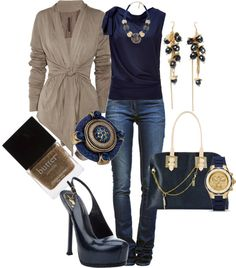 Blue with Tan! - #wadulifashions , #fashion, #clothing