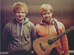 Ed Sheeran & Rupert Grint <3 <3 <3 <3 IN THE SAME PICTURE...OMG