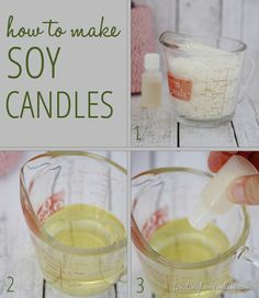 The best DIY projects & DIY ideas and tutorials: sewing, paper craft, DIY. Diy Candles Ideas & Wax melts SoyCandlesSteps thumb Handmade Gifts: How to Make DIY Soy Candles -Read Homemade Soy Candles, Diy Candles, Homemade Gifts, Scented Candles, Diy Gifts, Making Candles, Vanilla Candles, Candle Craft, Candle Wax