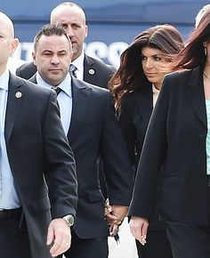 Joe Giudice and Teresa Giudice arrive for sentencing at federal court