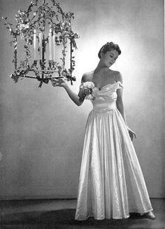 Lisa Fonssagrives-Penn 1937    Wearing a Charles James evening   gown.    photo by George Platt Lynes