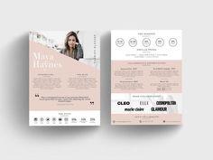 Media Kit Template Rate Sheet for Bloggers Price list | Etsy Cosmopolitan, Kit Media, Kit Design, Maya, Media Kit Template, Instagram Marketing, Change Image, Branding Kit, Letter Size