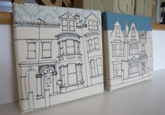A couple of our latest Embroidered House Portraits