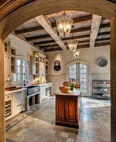 Beautiful French Normandy-inspired farmhouse in rural Connecticut Kitchen Decor Country Kitchen Designs, French Country Kitchens, Country Farmhouse Decor, French Country Decorating, Rustic Kitchen, Kitchen Decor, Kitchen Ideas, Italian Country Decor, Kitchen Country