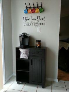 My new coffee bar!