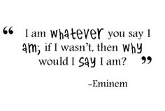 This song is a hell of a adrenaline pumper, but it has subtle beauty within the lyrics too Eminem is a lyrical genius. Eminem Lyrics, Eminem Quotes, Lyric Quotes, Me Quotes, Quotes Images, Qoutes, Great Song Lyrics, Music Lyrics, Whatever Quotes