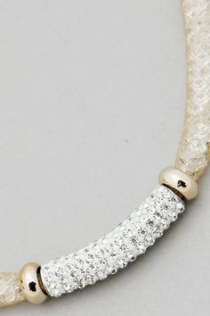 Crystal Filled Pave Necklace