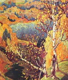 Painting Canada: Tom Thomson and the Group of Seven Tom Thomson, Emily Carr, Canadian Painters, Canadian Artists, Landscape Art, Landscape Paintings, Impressionist Landscape, Post Impressionism, Group Of Seven Artists