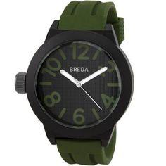 Breda Mens 8137_armygreen Jaxon Think Bold Bezel Watch