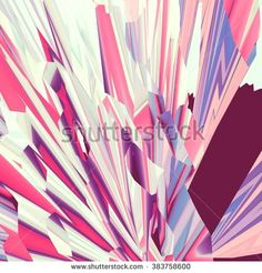 Background of glitch manipulations. Abstract flow of crystals consisting of brightest broken stripes in pink and yellow shades. It can be used for web design and visualization of music - stock photo