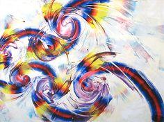 Entenrakai : Moving Spiral, Rotating Circles. In Memory of Yutaka Matsuzawa Op.18 2007 130.5cm×97cm
