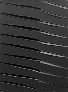 Black painting by my favorite French monochrome painter Pierre Soulages.  Very powerful paintings with an air of 'sober grandeur' (pierre soulages).