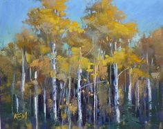 Painting My World: Use Your Uglies. A Tip for Painting Autumn Aspen T...
