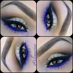Blue makeup. Winter make up