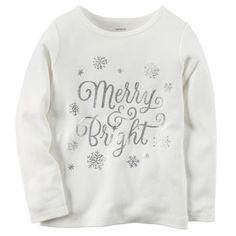 Carter's | Merry & Bright Tee carters.com ------------------------------------------- #toddlerstyle #naturallyrandom