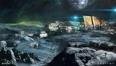 ArtStation - Destiny: Moon base, Jesse van Dijk
