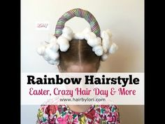 Rainbow Hairstyle - For Easter, Crazy Hair Day & More - YouTube