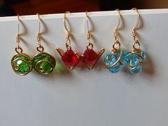 The Legend of Zelda's Spiritual Stone Earrings (Set of 3)