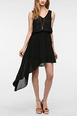 Sparkle & Fade Asymmetrical Hem Chiffon Dress