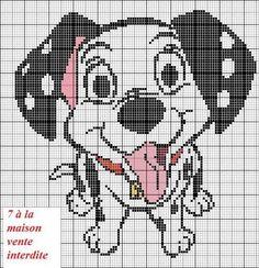 Free 101 Dalmatian puppy cross stitch pattern #stitching