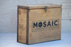 Custom Engraved Church Offering/Donation Box