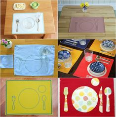 1. Easy Clean Montessori Placemat - M.VIta / 2. Placemat Set Vinyl - Montessori Design by Nuccia / 3. Placemat Blue (with matching napkin) - Michael Olaf / 4. Montessori Children's Placemat - Naturababy on Amazon / 5. Snack Placemat Nido and Todder - Montessoria Textiles / 6. Montessori Fabric...