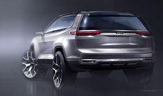 Jeep云图概念车效果图发布 上海车展将亮相