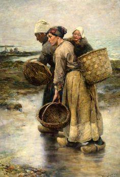 Les moulières, Villerville, Calvados, France c.1902 by Robert McGregor RSA (Scottish 1847–1922)