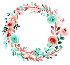 Floral clipart spring clipart floral wreath wedding