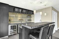 Modern home bar in Leschi.
