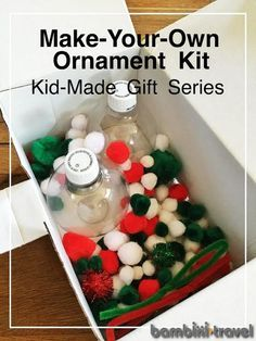 Make-Your-Own Ornament Kit | Kid Made Gift for Friends or Cousins || Bambini Travel