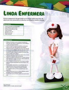 El Rincon Fofuchero: Fofuchas Area Salud enfermeras*/os con moldes