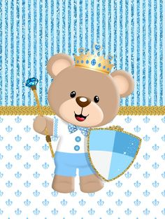 kit ursinho príncipe para imprimir gratis Baby Shawer, Baby Kit, 3rd Baby, Baby Shower Oso, Sprinkle Shower, Baby Shower Invitaciones, Bear Party, Baby Mermaid, 14th Birthday