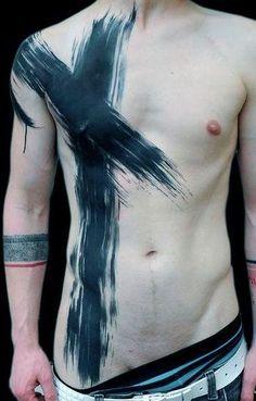 cross tattoo for man