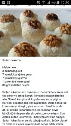 Turkish Delight, Turkish Recipes, Confectionery, Bakery, Stuffed Mushrooms, Food And Drink, Vegetables, Cooking, Dessert