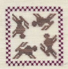 Garden Grumbles and Cross Stitch Fumbles: Rabbit 'Round