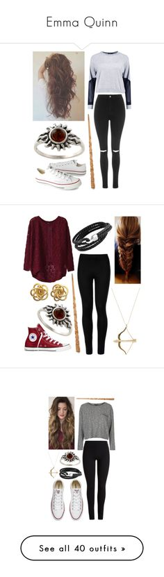 """""""Emma Quinn"""" by birdynerd ❤ liked on Polyvore featuring Boohoo, Topshop, Converse, Amber Sun, Wolford, Sydney Evan, Bling Jewelry, Allurez, Tai and River Island"""