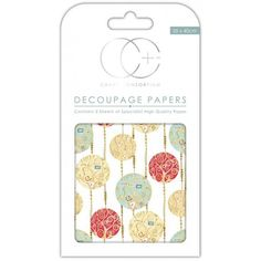 Papeles decoupage White Baubles