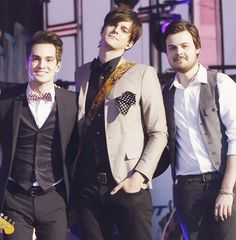 Dallon is so tall and then there is Brendon....
