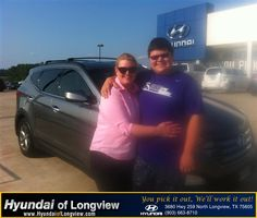 Great job. Mac did a great job and Jeff saved the day. I love my new Santa Fe. Come get your own today. Just ask for Mac... - elizabeth neufner, Tuesday, July 22, 2014 http://www.hyundaioflongview.com/?utm_source=Flickr&utm_medium=DMaxxPhoto&utm_campaign=DeliveryMaxx