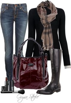 """Burberry Scarf"" by orysa ❤ liked on Polyvore"