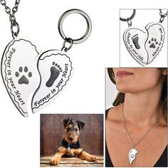 Always By Your Side Necklace & Pet Tag Set at The Animal Rescue Site