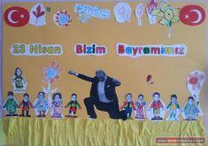 Okulöncesi 23 Nisan Etkinlikleri | OkulÖncesi Sanat ve Fen Etkinlikleri Paylaşım Sitesi Kindergarten Art, Preschool Art, Diy And Crafts, Crafts For Kids, Child Day, Science For Kids, Art Activities, Projects To Try, Classroom