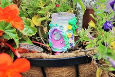 Your place to buy and sell all things handmade Pagan Yule, Power Colors, Flower Pots, Flowers, Tea Light Holder, Recycled Glass, Pink Glitter, Christmas Tree Decorations, Glass Jars