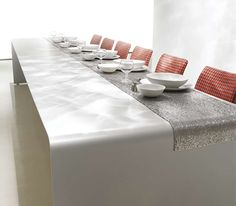 There is a place for modern style at the table. This dining table decorating idea by MDF Italia makes the meal the second reason to come to the table,. Luxury Dining Tables, Luxury Dining Room, Dining Table Design, Modern Dining Table, Best Dining, Dining Area, Luxury Interior Design, Interior Design Inspiration, Esstisch Design