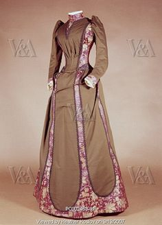 1890-1899 Day dress by Charles Worth, via Flickr