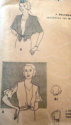 Butterick 4357   1930s Jacket