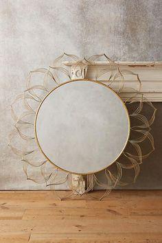 Anthropologie Circled Blooms Mirror